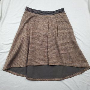 Anthropologie HD in Paris Metallic Skirt Hi Low